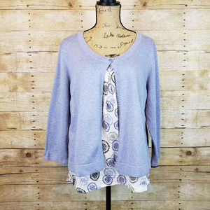 Croft & Barrow One Button Knit Cardigan with Inner